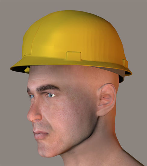 Picture of Hard Hat Model for all Poser Figures