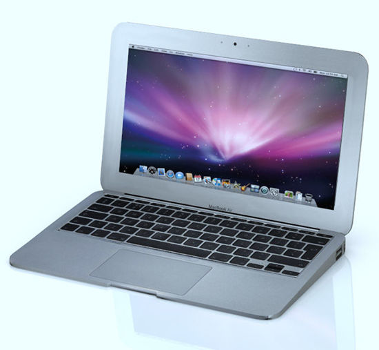 Picture of Macbook Style Laptop Computer Model