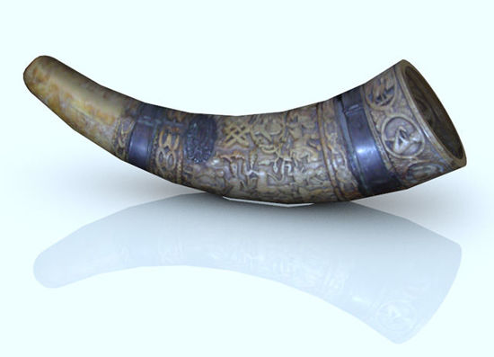 Picture of Ancient Ceremonial Drinking Horn Prop