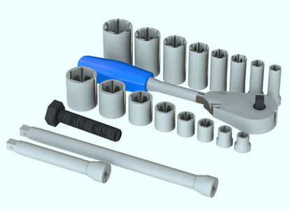 Picture of 20 Piece Mechanics Socket Set Tool Props