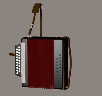 Picture of Accordion Musical Instrument Prop