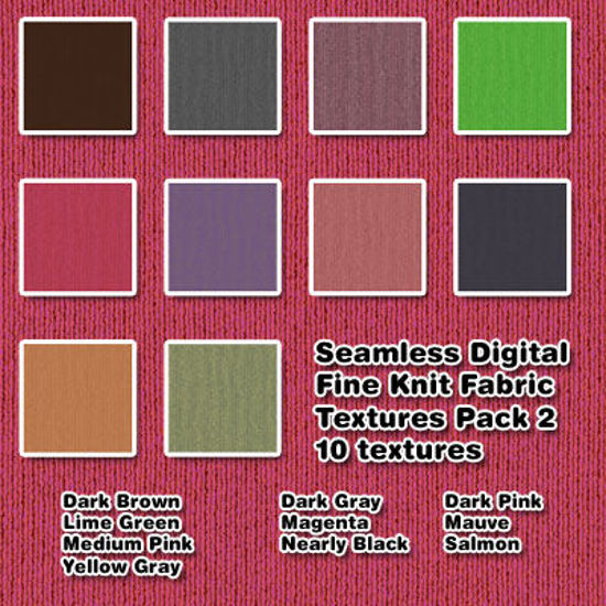 Picture of Seamless Digital Fine Knit Fabric Texture Pack 2