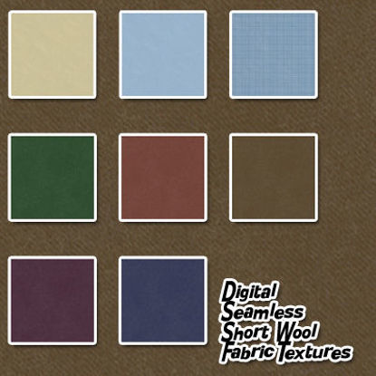 Picture of Digital Seamless Short Wool Fabric Textures