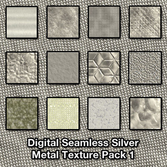 Picture of Seamless Digital Silver Metal Texture Pack 1