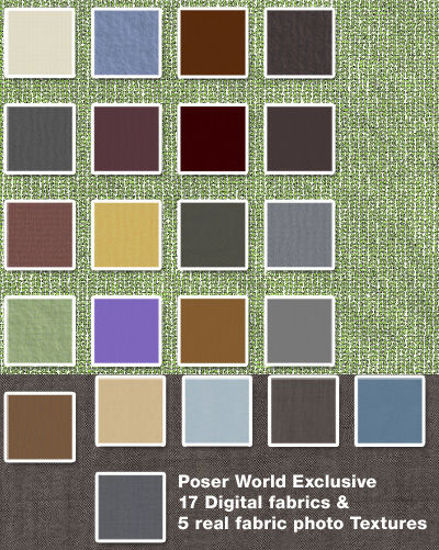 Picture of Poser World Exclusive Seamless Fabric Textures Pack