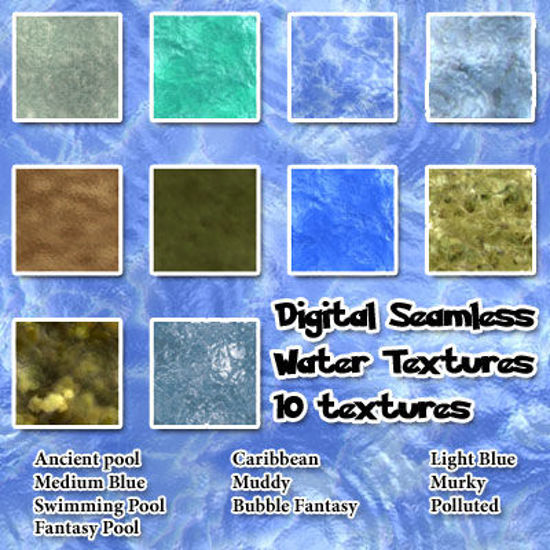 Picture of Seamless Digital Water Textures Pack
