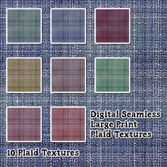 Picture of Digital Seamless Large Print Plaid Fabric Pack