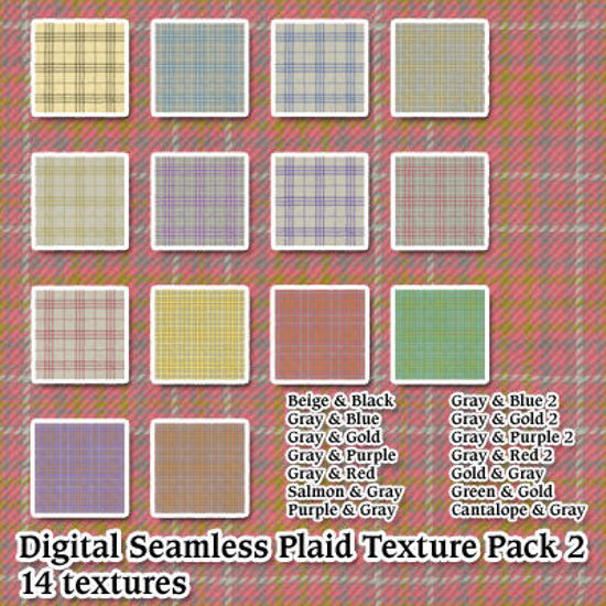 Picture of Digital Seamless Plaid Fabric Pack 2
