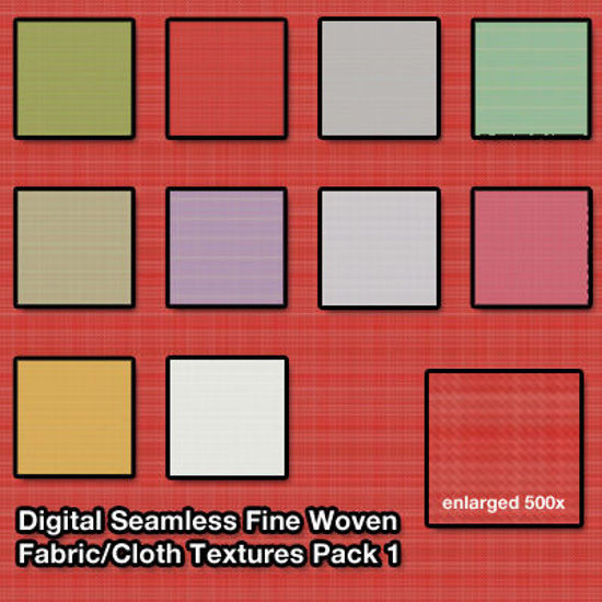 Picture of Seamless Digital Fine Woven Fabric - Cloth Texture Pack 1
