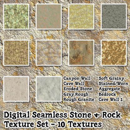 Picture of Digital Seamless Stone and Rock Texture Pack