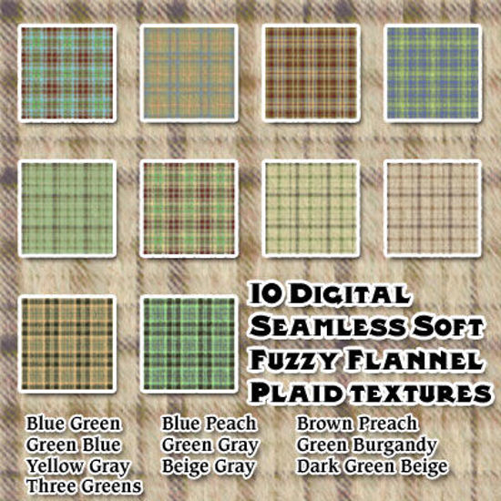 Picture of Digital Seamless Soft Fuzzy Flannel Plaid Texture Pack