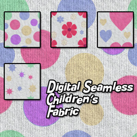 Picture of Digital Seamless Children's Print Fabric