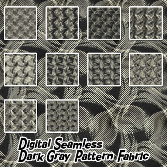 Picture of Digital Seamless Dark Gray Pattern Fabric Textures
