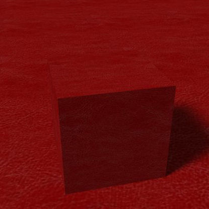 Picture of Seamless Red Leather Photo Texture - 320x418