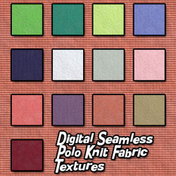 Digital Seamless Polo Knit Fabric Textures