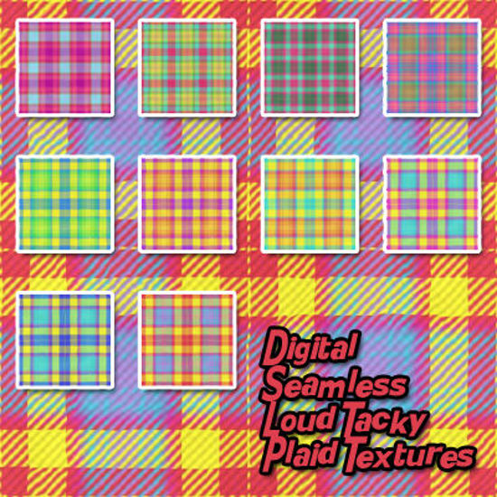 Picture of Digital Seamless Loud Tacky Plaid Fabric Textures