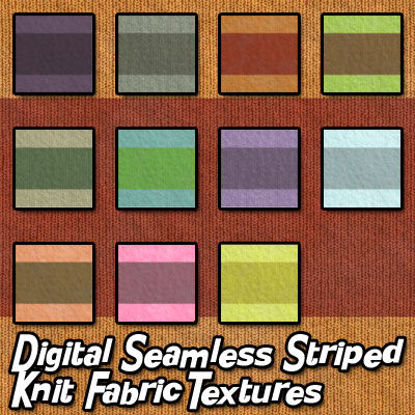 Picture of Digital Seamless Striped Knit Fabric Textures