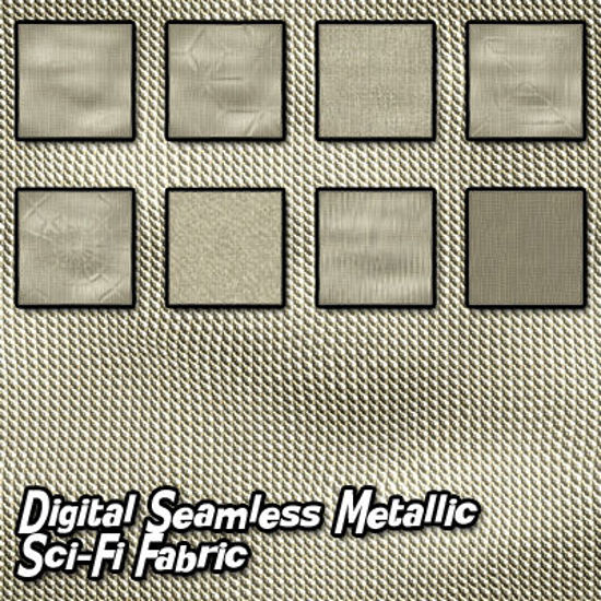Picture of Digital Seamless Metallic Sci-Fi Fabric Textures