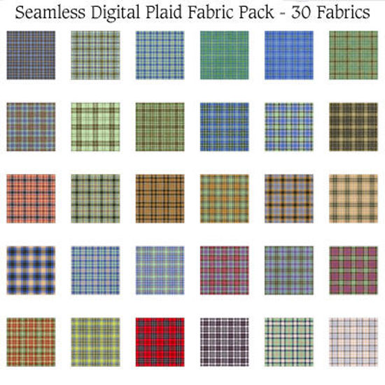Picture of Seamless Digital Plaid Fabric Pack - 30 Plaids