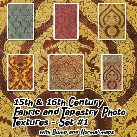 Picture of 15th & 16th Century Fabric and Tapestry Seamless Photo Textures Set 1