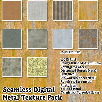 Picture of Seamless Digital Metal Texture Pack - 10 Textures