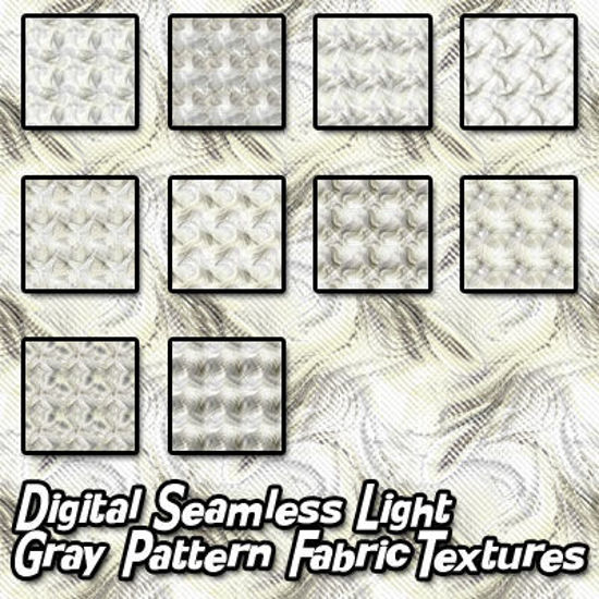 Picture of Digital Seamless Light Gray Pattern Fabric Textures