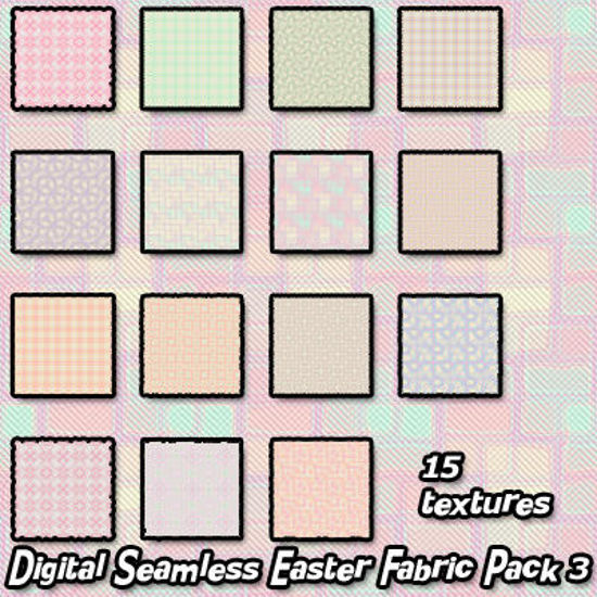Picture of Digital Seamless Easter Fabric Texture Pack 3