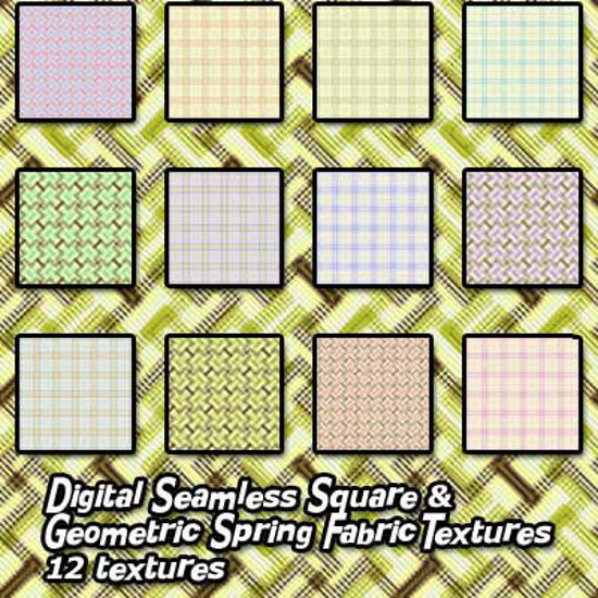 Picture of Digital Seamless Square and Geometric Spring Fabric Textures