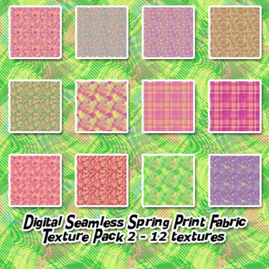 Picture of Digital Seamless Spring Print Fabric Textures Pack 2