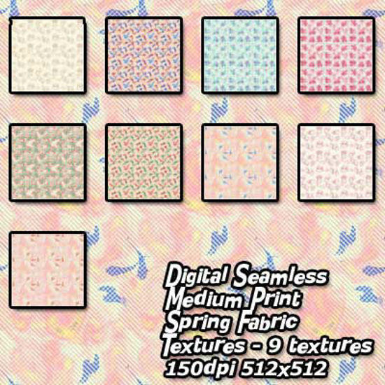 Picture of Digital Seamless Medium Print Spring Fabric Textures
