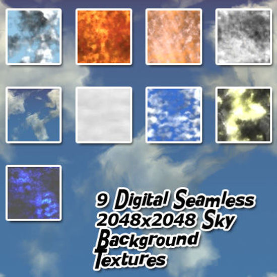 Picture of Digital Seamless 2048x2048 Sky Background Textures