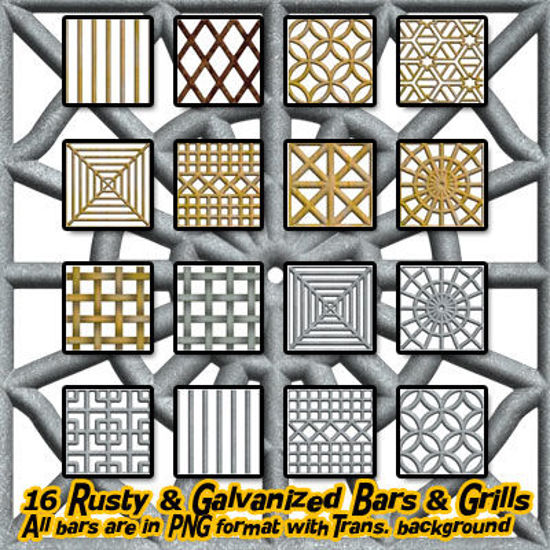 Picture of Digital Seamless Metal Bars and Grills - Rusty and Galvanized