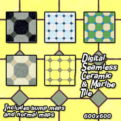Digital Seamless Ceramic and Marble Floor Tile Textures