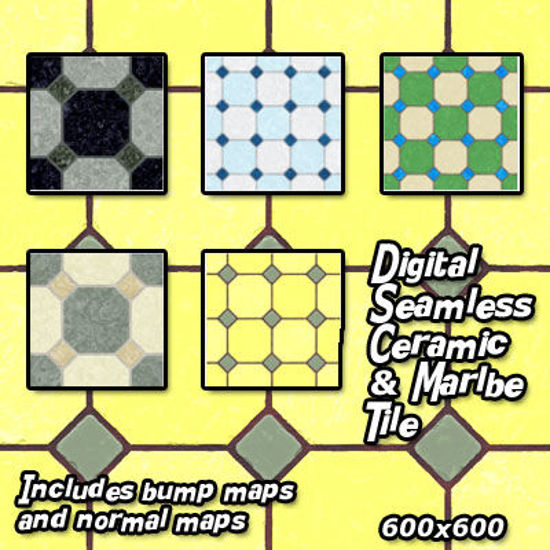 Picture of Digital Seamless Ceramic and Marble Floor Tile Textures