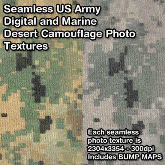 Picture of Seamless US Military Digital Camouflage Photo Textures
