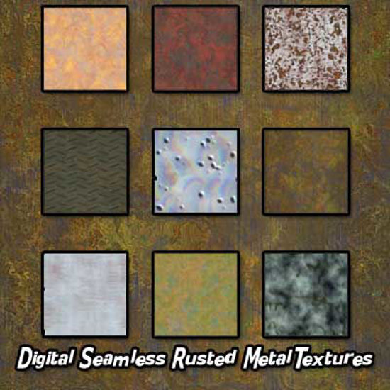 Picture of Digital Seamless Rusted Metals Texture Pack