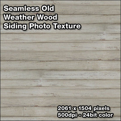 Picture of Seamless Weathered Wood Siding Photo Texture