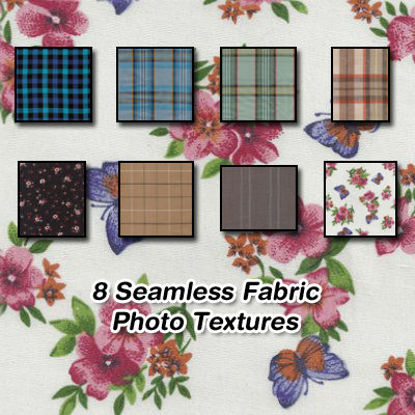 Picture of 8 Seamless Stripe and Pattern Fabric Photo Textures Set 3