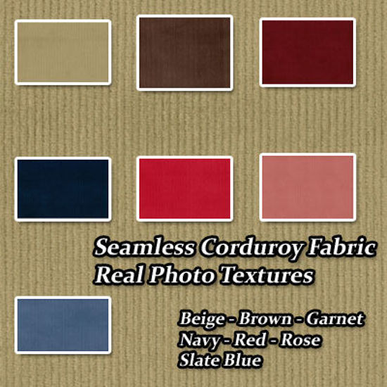 Picture of Seamless Corduroy Real Photo Fabric Textures