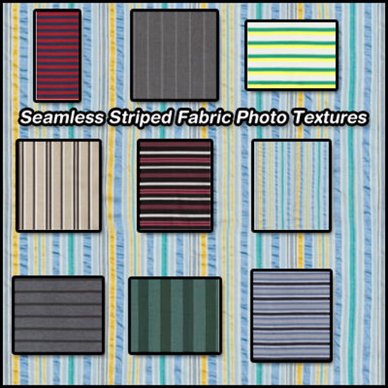 Picture of Seamless Striped Fabric Photo Textures 1