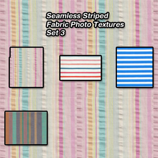 Picture of Seamless Striped Fabric Photo Textures 3