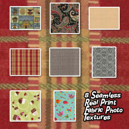 Picture of Seamless Real Print Fabric Photo Textures