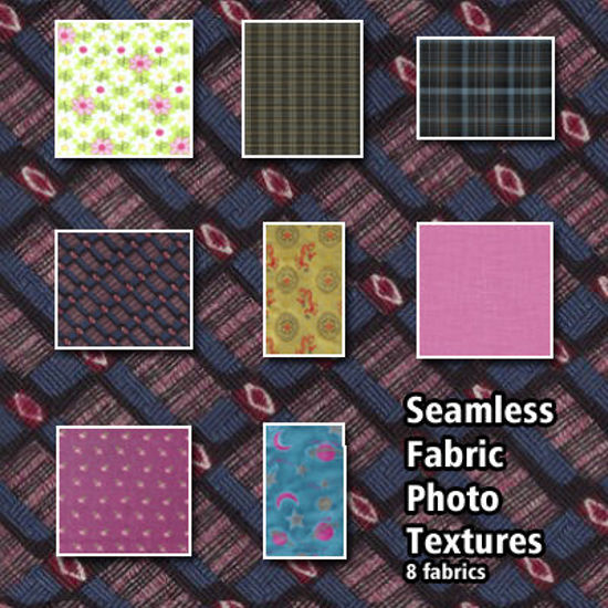 Picture of 8 Seamless Fabric Photo Textures