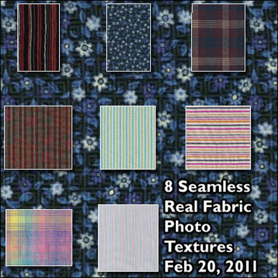 Picture of Eight Seamless Real Fabric Photo Textures