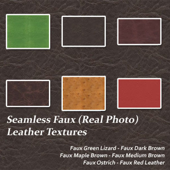 Picture of Seamless Real Photo Faux Leather Textures