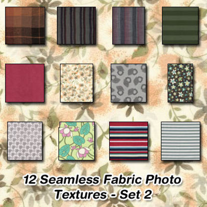 Picture of 12 Seamless Stripe and Pattern Fabric Photo Textures Set 2