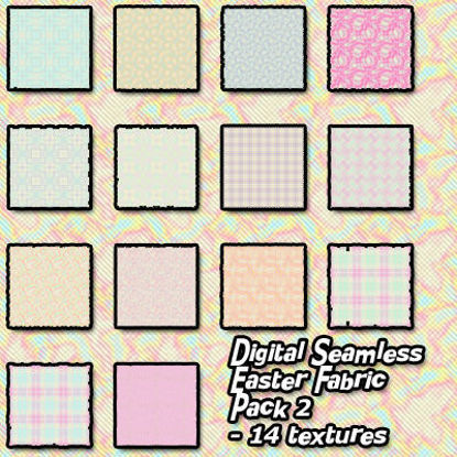 Picture of Digital Seamless Easter Fabric Texture Pack 2
