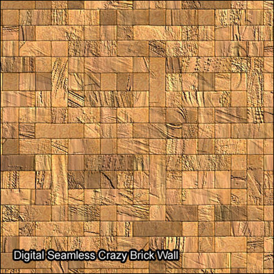 Picture of Seamless Digital & Photo Wall Texture Set - crazy-brown-brick