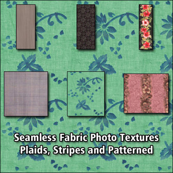 Picture of 6 Seamless Fabric Photo Textures - Striped, Plaid and Patterned