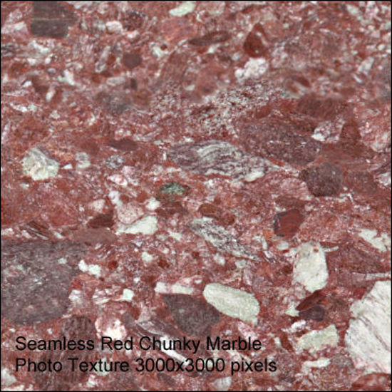 Picture of Seamless Marble Photo Textures 3000x3000 - Red-Chunky-Marble